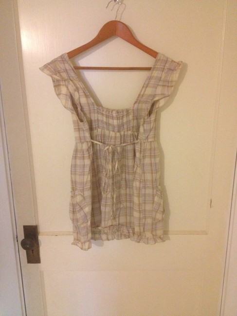 Mossimo Supply Co. Top beige/yellow/plaid