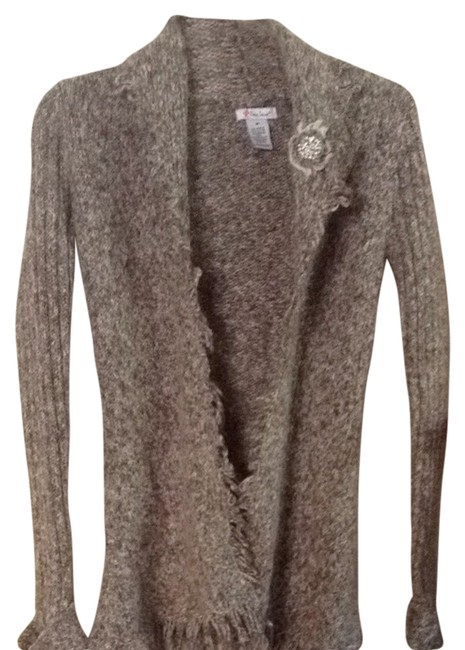 Preload https://item1.tradesy.com/images/brown-and-off-white-wash-cardigan-size-4-s-1822305-0-0.jpg?width=400&height=650