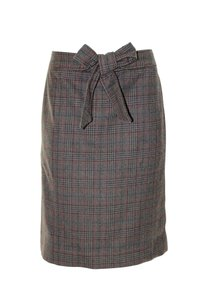 J.Crew Pencil Bow Wool Skirt plaid
