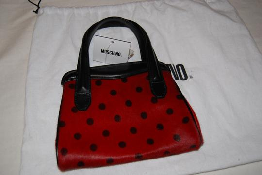 Moschino Black and Red Clutch