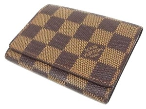 Louis Vuitton Authentic Louis Vuitton Damier Ebene Card Holder Wallet