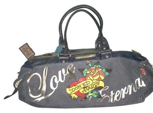 Ed Hardy Satchel in Blue