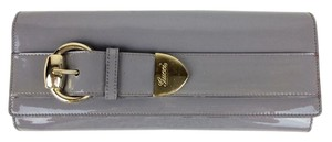 Gucci Leather Patent Leather Leather Evening grey Clutch
