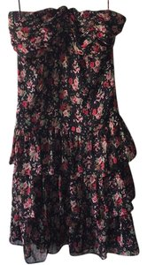 Express short dress Black, Floral on Tradesy