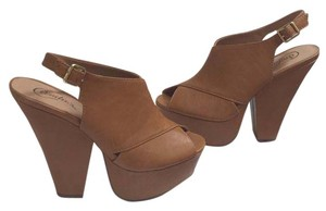 Candie's Tan Platforms