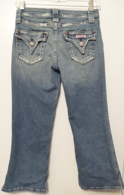 H by Hudson 178sd Triangle Capri/Cropped Denim-Distressed Image 2