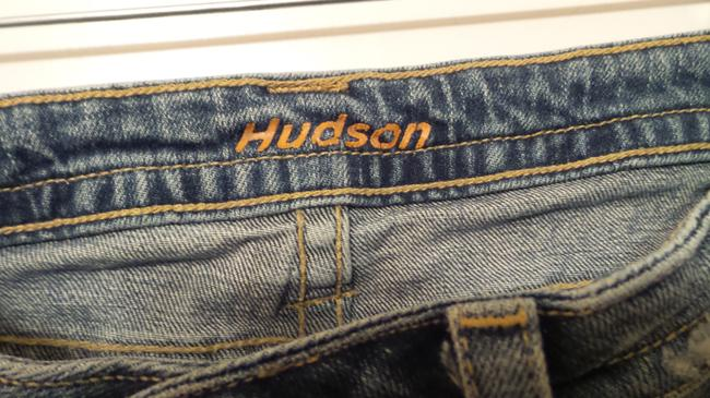 H by Hudson 178sd Triangle Capri/Cropped Denim-Distressed Image 3