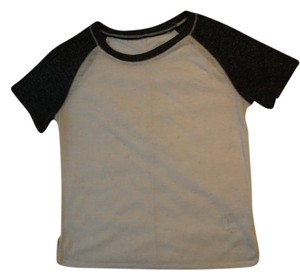 Urban Outfitters T Shirt White with black sleaves