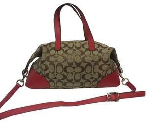 Coach Satchel in Red And Brown