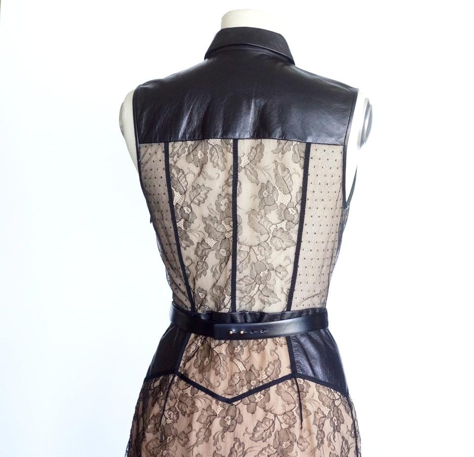Dress Over Nude Maxi and Lace Black Lining Jason Leather Wu Casual xw76BqSv