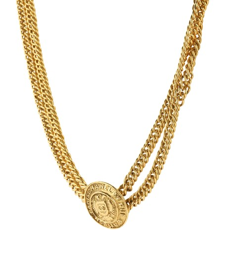 Chanel Medallion Charm Double Chain Image 2