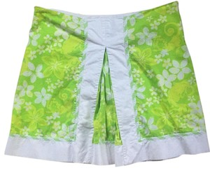 Lilly Pulitzer Mini Skirt Lime green and White