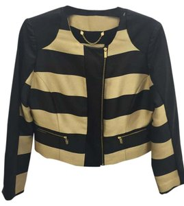 Chico's Striped Black/Gold Jacket