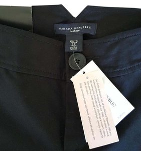 Banana Republic Trousers Martin Fit Wide Leg Pants Black