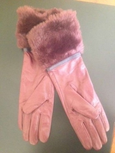 Pins and Needles Leather fur Gloves