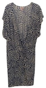Anthropologie short dress Navy/Flax Linen on Tradesy