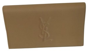 Saint Laurent Ysl Beige Clutch