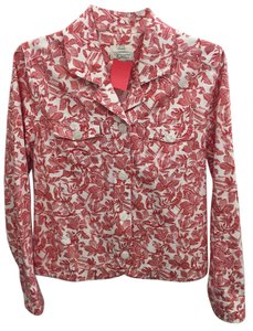 Christopher & Banks Floral Spring Red/White Jacket