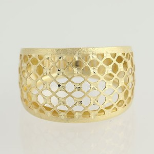 Latticework Statement Ring - 14k Yellow Gold Textured Womens