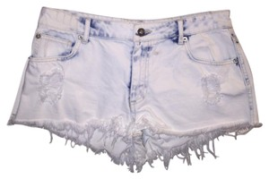 Forever 21 Cut Off Shorts White and blue