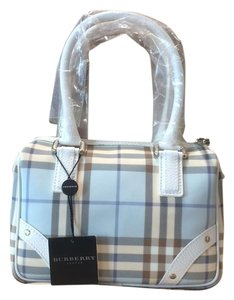 Burberry Tote in Blue and white