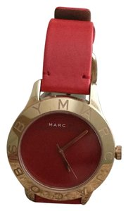 Marc Jacobs Marc Jacobs Blade Rose Red Leather Watch