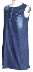 Dsquared2 short dress Blue Denim Denim Distressed 6 on Tradesy