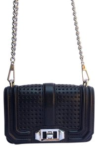 Rebecca Minkoff Leather Edgy Structured Convertible Cross Body Bag