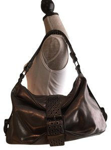MICHAEL Michael Kors Leather Grey Leather Hobo Bag