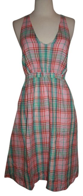 Item - Multicolor XS Cross-back In Vintage Plaid F3476 Mid-length Casual Maxi Dress Size 2 (XS)