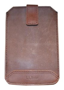 L.L.Bean L.L. Bean Mens Leather Phone Case in Brown Brand New with Tags