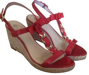 Kate Spade Red Wedges