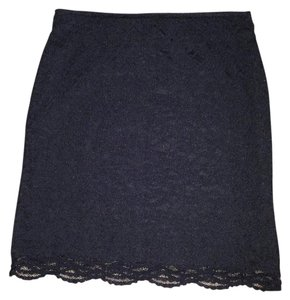 H&M Lace Mini Mini Skirt Black