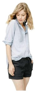 Lou & Grey Loft Shirt Striped Button Down Shirt Blue