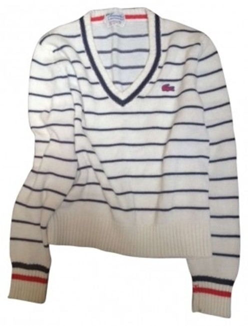 Preload https://img-static.tradesy.com/item/182330/lacoste-white-and-navy-vintage-americana-sweaterpullover-size-4-s-0-0-650-650.jpg