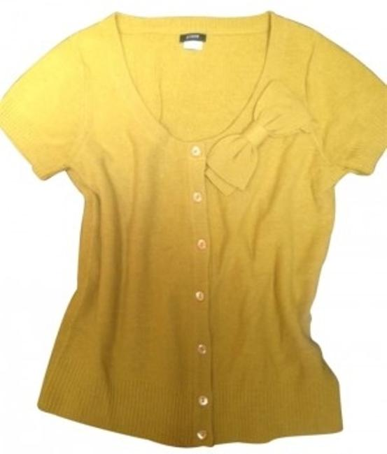 Preload https://item3.tradesy.com/images/jcrew-yellow-green-bow-cardigan-size-4-s-182332-0-0.jpg?width=400&height=650