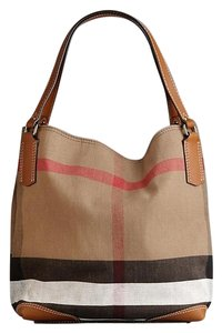 Burberry Canvas/leather Tote in Saddle Brown