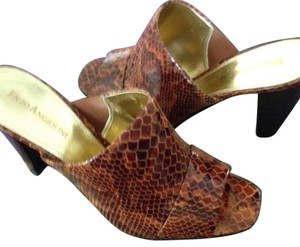 Enzo Angiolini Brown Multi Mules