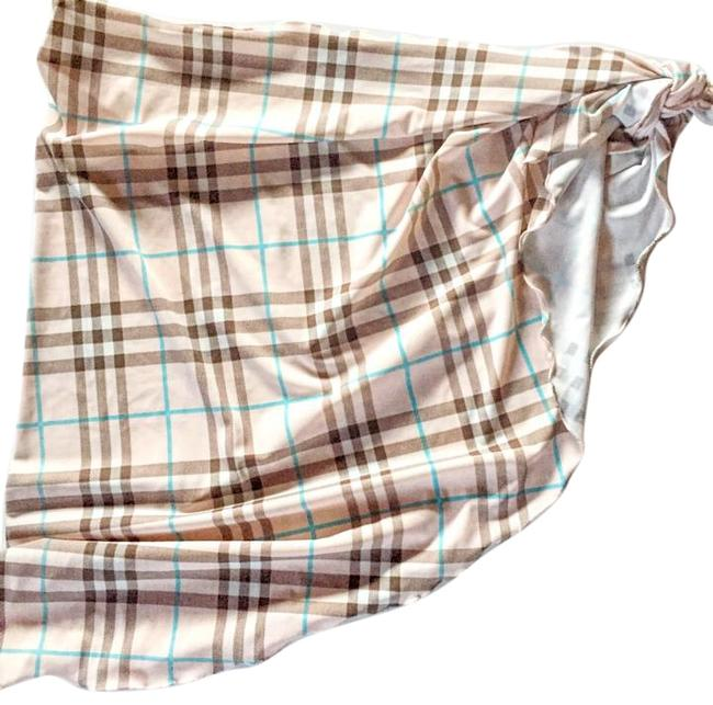 Item - Pink Check Wrap/Cover-up Cover-up/Sarong Size OS (one size)