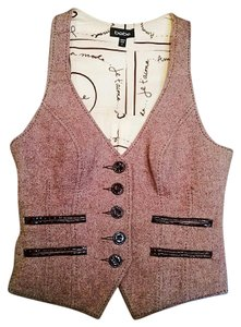 bebe Wool Button-up Retro Vest