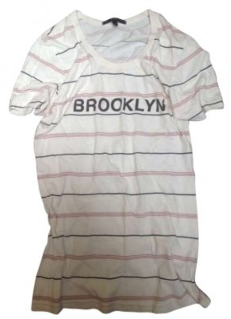 Item - Vintage White Brooklyn Striped Tee Shirt Size 6 (S)