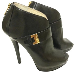 MICHAEL Michael Kors Leather Upper Bootie Style Black Boots