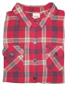 Mossimo Button Down Shirt Red