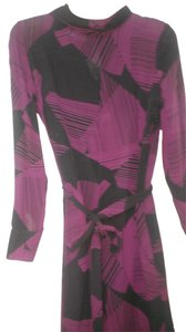 Calvin Klein Silk Silk Lined Long Sleeves Cowl Neck Made In China Dress
