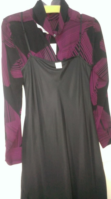 Calvin Klein Silk Silk Lined Long Sleeves Cowl Neck Made In China Dress Image 2