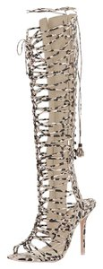 Sophia Webster Knee-high Gladiator Sexy CAMO/NUDE Sandals