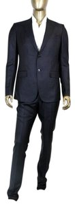 Gucci New Gucci Men's Navy Striped Wool Silk Suits IT 48 /US 38 234098 4240