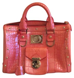 Versace Satchel in Coral