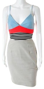 L'AGENCE short dress Multi Cotton Striped Summer Spaghetti Strap on Tradesy