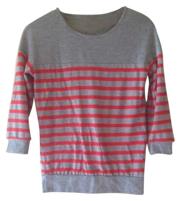 Preload https://item2.tradesy.com/images/robin-k-grey-with-red-stripes-flash-sale-anthropologie-usa-quarter-sleeved-blouse-size-4-s-1823641-0-0.jpg?width=400&height=650